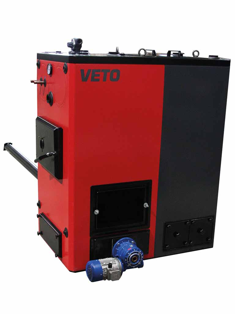 Automatic ash removal (VETO-biomass heating)