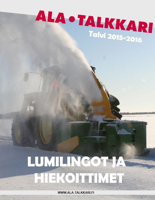 Ala-Talkkarin lumilingot ja hiekoittimet 2015-2016